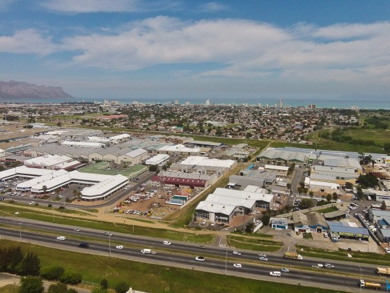 Aerial drone image from the industrial aera of Somerset West