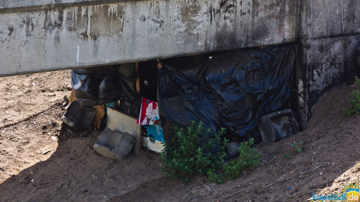 Homeless sleeping under bridges