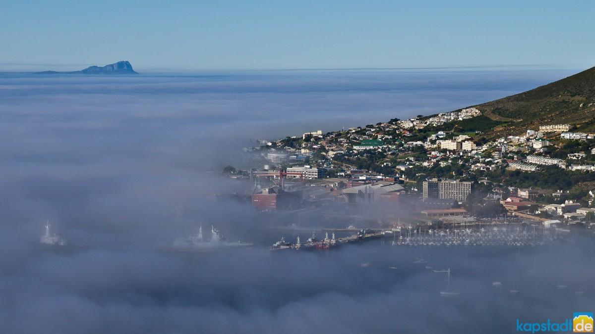 Simon's Town under mist