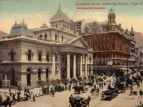 Postkarte Adderley Street um 1900
