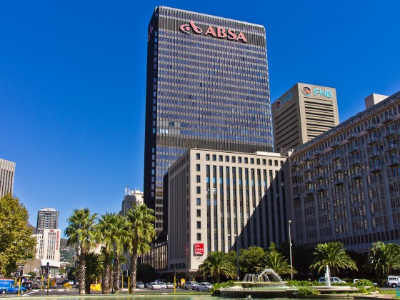 ABSA building and Adderly Street in the business district