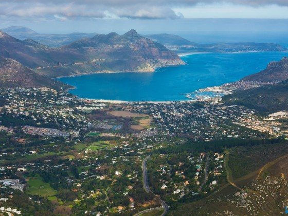 Helicopter flight: Hout Bay valley