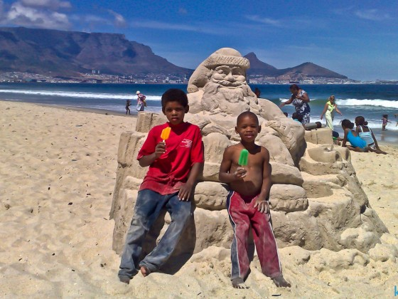 Christmas time on Milnerton Beach