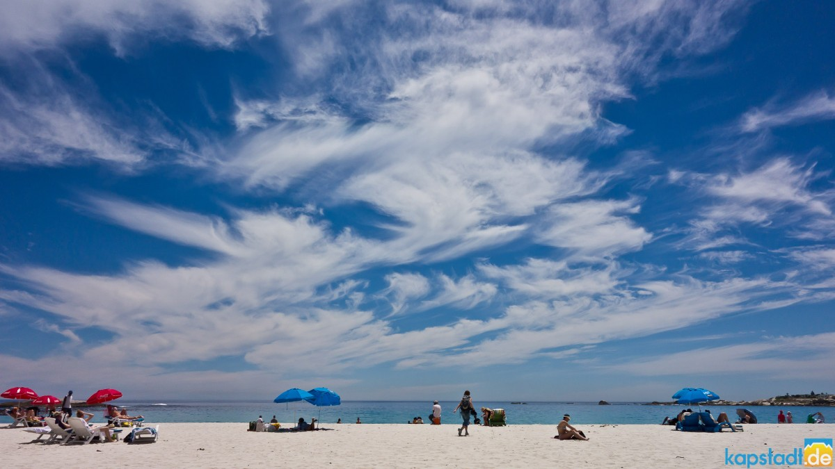 The beach of Camps Bay with some nice cloud pattern