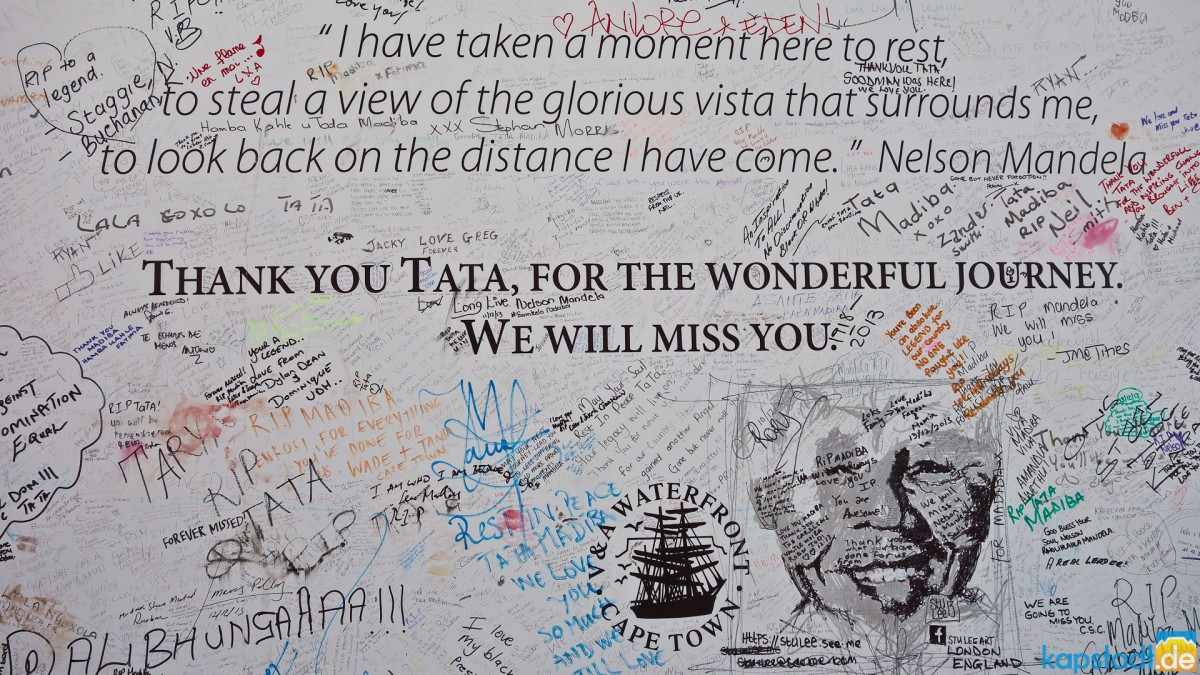 Memories to Nelson Mandela at the V&A Waterfront