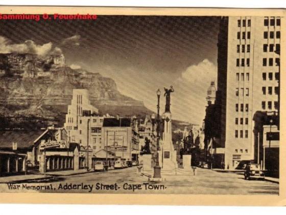 Postkarte Adderley Street 1928