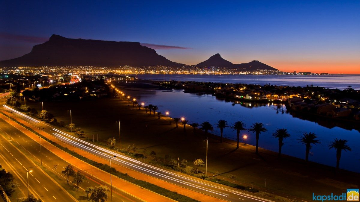 Woodbridge Island and Table Mountain from Milnerton