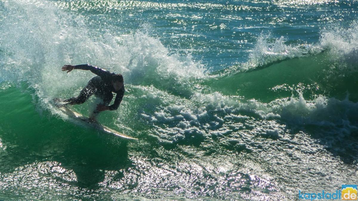 Wavesurfer at Bloubergstrand