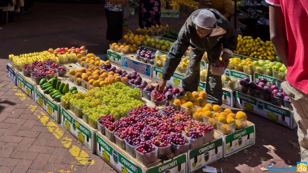 Fruit seller at St. Georges Mall