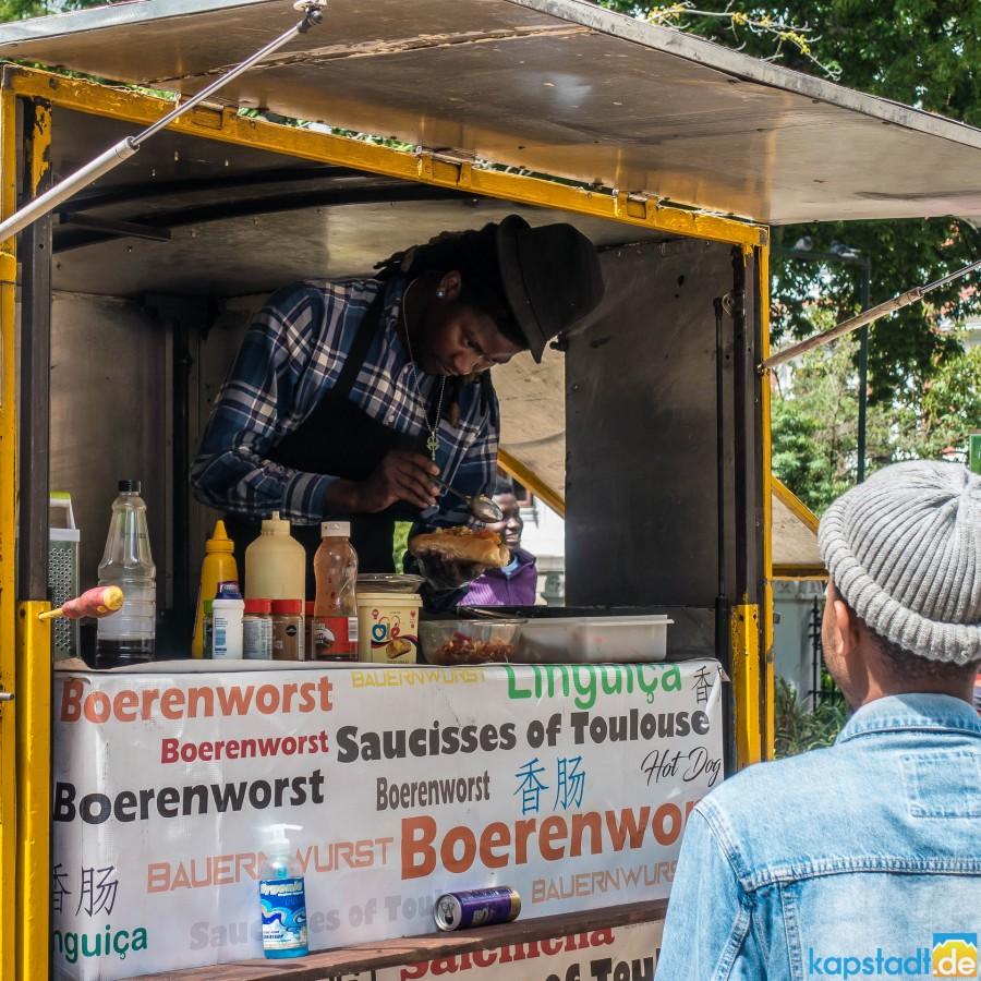 Boerenworst stall in the Company Garden