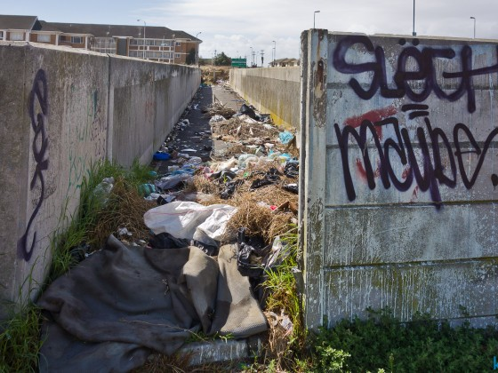 Filthy area at Boundary Road in Milnerton