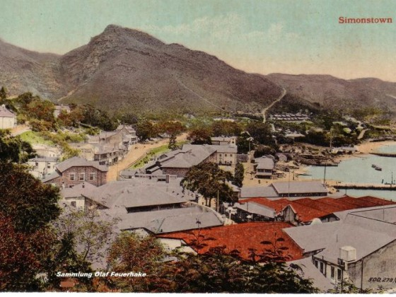 Postkarte Simonstown um 1900