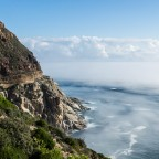Chapman's Peak Drive with mist on the Atlantic