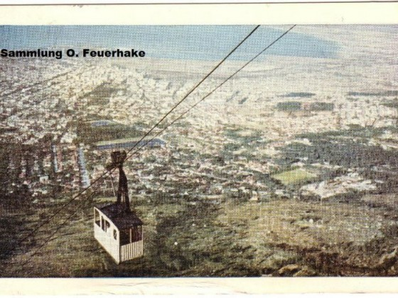 Postkarte Cable Car 1957