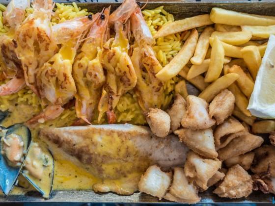 Seafood platter and Ocean Basket