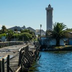 Old wooden bridge to Woodbridge Island in Milnerton