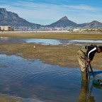 Bait fisher in the Milnerton Lagoon
