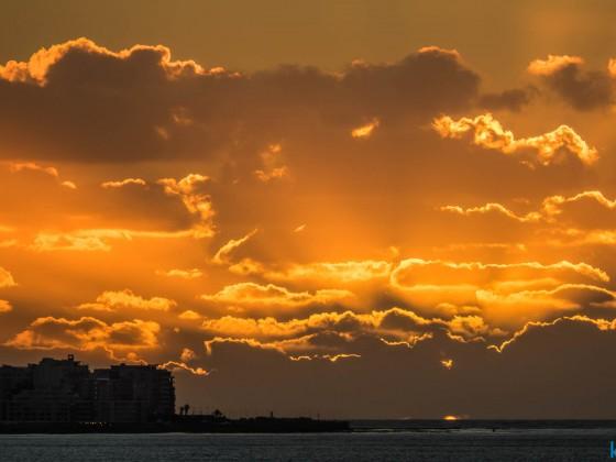Sunset over Green Point seen from Milnerton