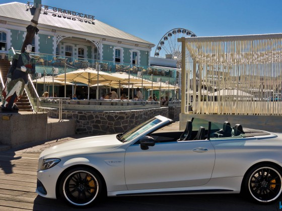Mercedes luxury vehicles exhibiation at the V&A Waterfront
