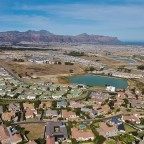 Aerial drone image from Somerset West towards Strand and Gordon's Bay