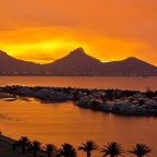 Red sunset in Milnerton