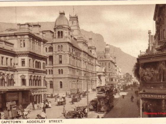 Postkarte Adderley Street 1910