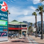 Caltex garage at the main entrance of the V&A Waterfront