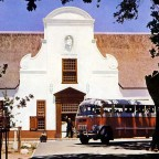 Tourist bus at Groot Constantia 1951