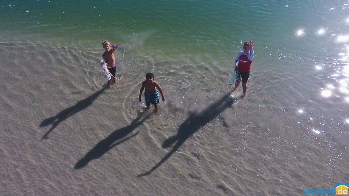 Aerial image from kids in the Milnerton Lagoon noticing the drone