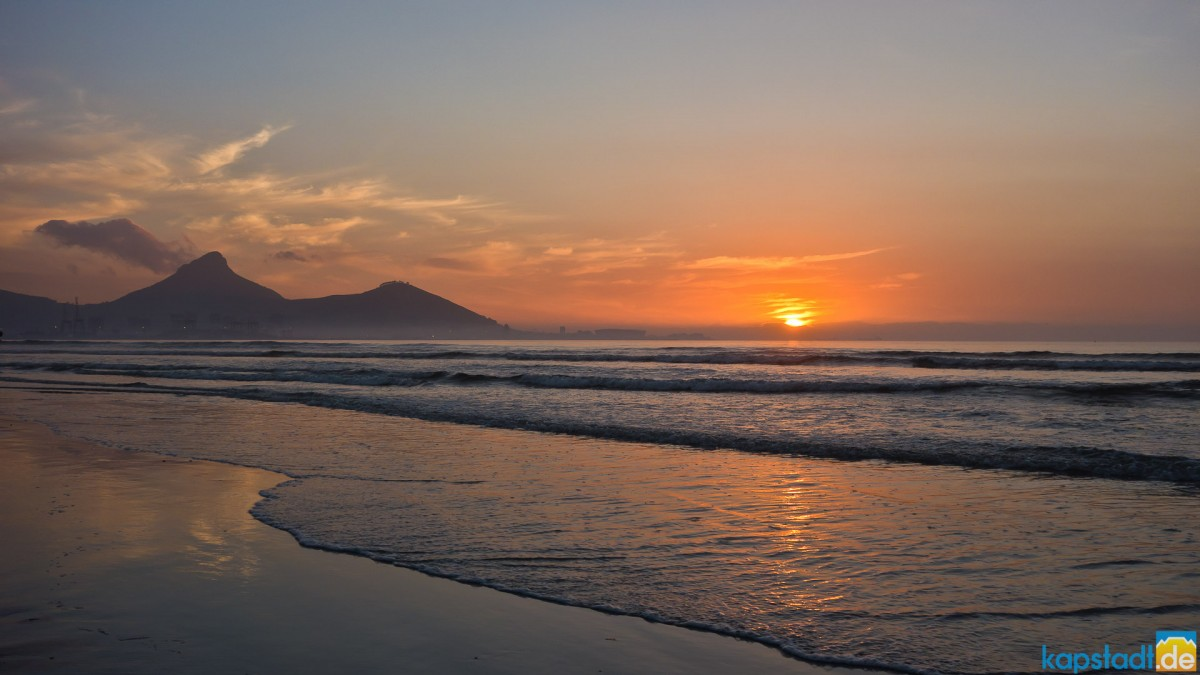 Sunset at Milnerton Beach