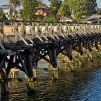 "The old bridge of ""Woodbridge Island"""