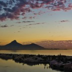 Evening vibes at the Milnerton Laggon with Woodbridge Island