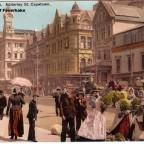 Postkarte Blumenhändler auf der Adderley Street 1905