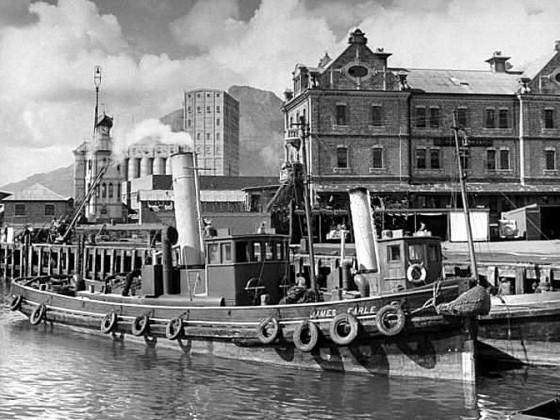 Tugs in the docks 1946