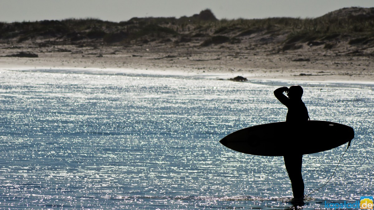 Surfer at Bloubergstrand