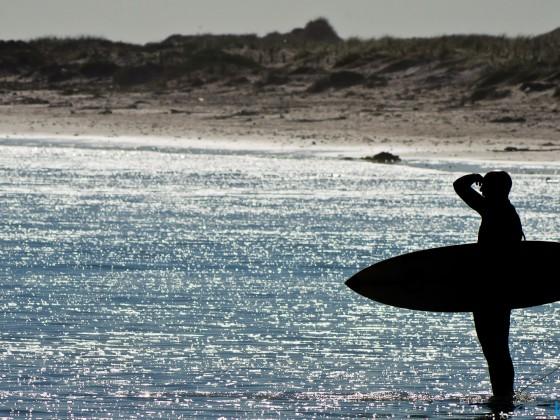Surfer at Bloubergstrand