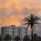 Palo Alto flat building in Milnerton during sunset