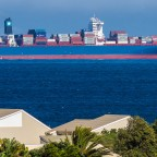 Container ship in the Table Bay