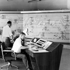 Railways control room, 1964