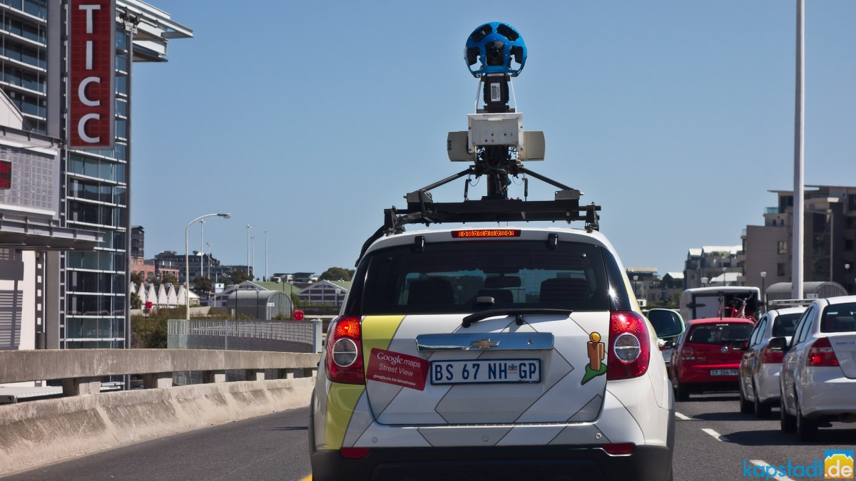 Google Maps Street View car seen in Cape Town