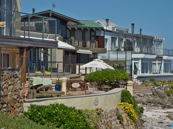 Houses on the beach of Bloubergstrand