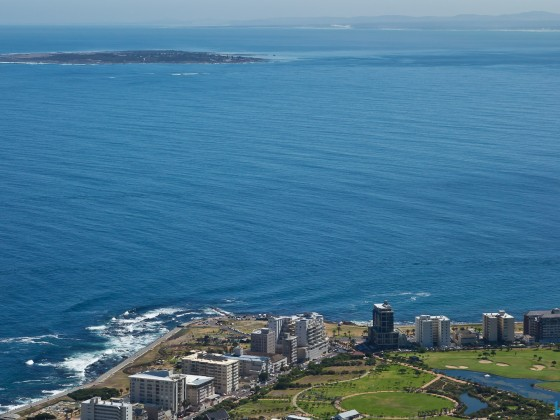 Sea Point and Robben Island from Signal Hill
