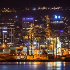 Cape Town harbour seen from Milnerton with 600mm lense