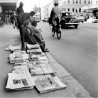 Newspaper vendor c1955