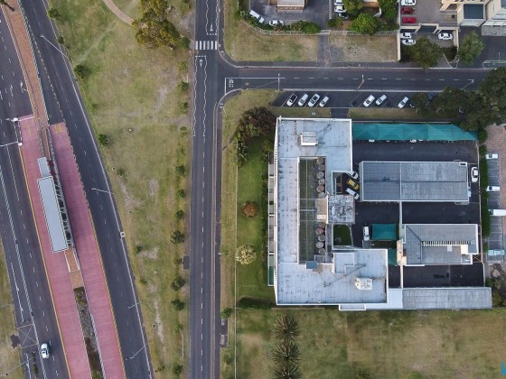 Flat building in Milnerton right from top