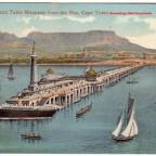 Postkarte Promenade Pier gelaufen 1922