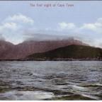 Postkarte Der erste Blick auf Kapstadt