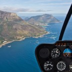 Helicopter flight: coastal route towards Hout Bay