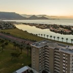 Table Mountain from Milnerton with Palo Alto flat building