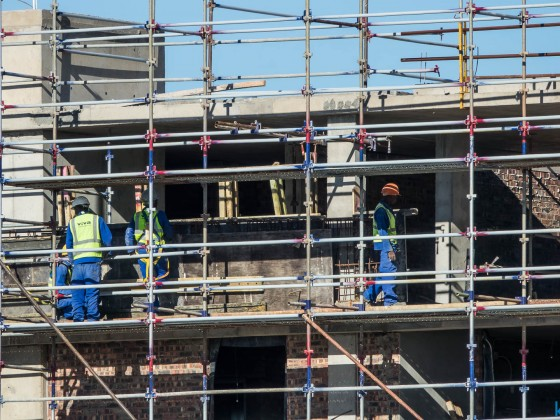 Construction at Centre Point in Milnerton